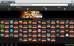 speel online casino op je Ipad, Android tablet of smartphone bij MyJackpotCasino.com mobile.