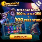 Zoncasino 100 gratis spins